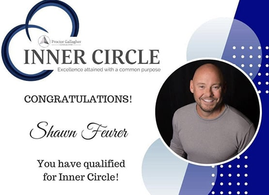 Shawn Feurer Inner Circle Award from Proctor Gallagher Institute